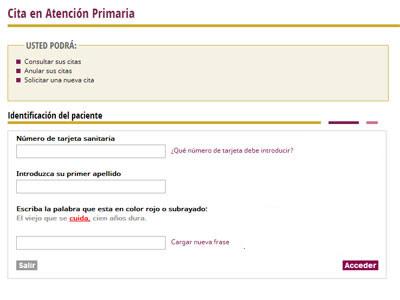 Pedir cita médico en Extremadura